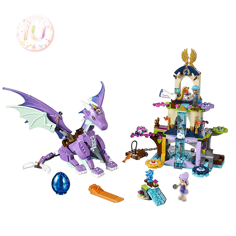 <font><b>legoings</b></font> BELA 10549 Elves The Dragon Sanctuary Building Blocks Toys For Children 519 Pcs Compatible <font><b>41178</b></font> Birthday Gifts image