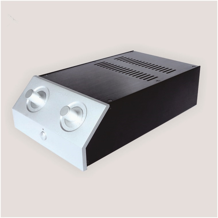 JC2210C All Aluminum Housing Audio Amplifier Chassis Preamp Enclosure AMP Case DIY Box bz3008 all aluminum amplifier chassis preamp integrated amplifier amp enclosure case diy box 280 70 211mm