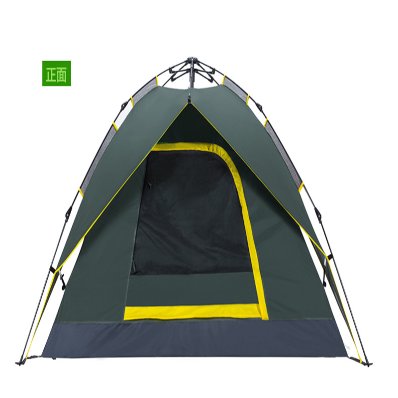 New Arrival  Outdoor 3-4 Persons Double-Layer Tent Sunshade Waterproof Windproof Anti-UV Sun Shelter  Tent For Camping Hiking hewolf 2persons 4seasons double layer anti big rain wind outdoor mountains camping tent couple hiking tent in good quality