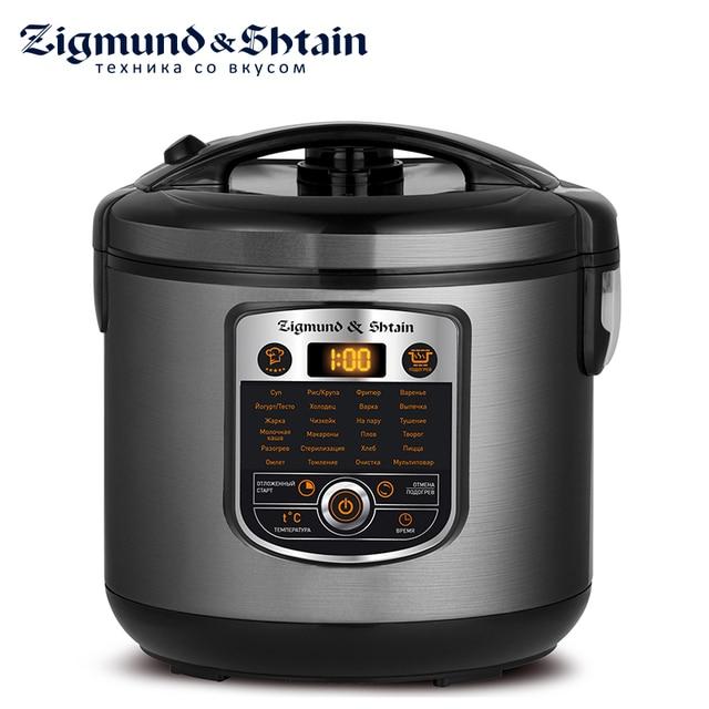 Zigmund & Shtain MC-D35 Мультиварка, 860 Вт, стальной корпус, объем чаши 5л, 24 автоматические программы, автоподогрев до 12 часов, температура приготовления 30°С-180°С, программа Мультиповар