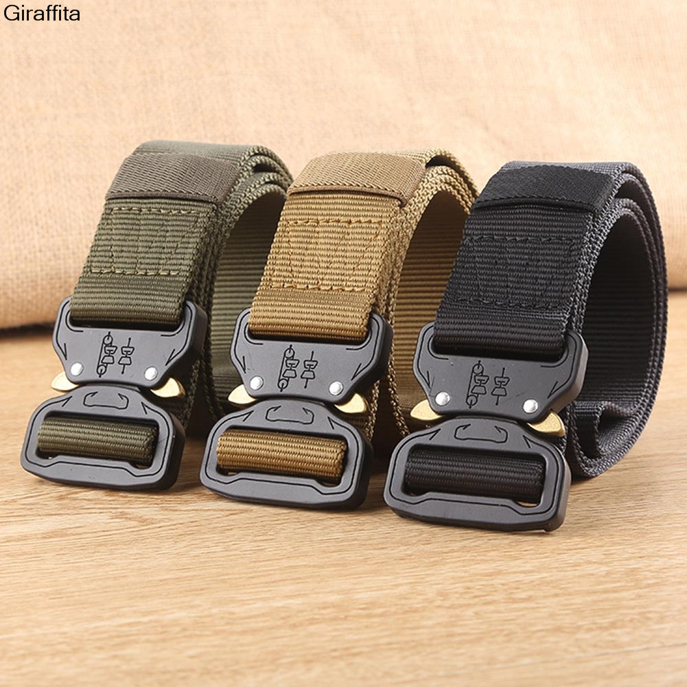 2017 Hot Tactical Gear Heavy Duty Belt Cobra Nylon Metal Buckle Patrol Waist Belt Tactical Hunting Accessories
