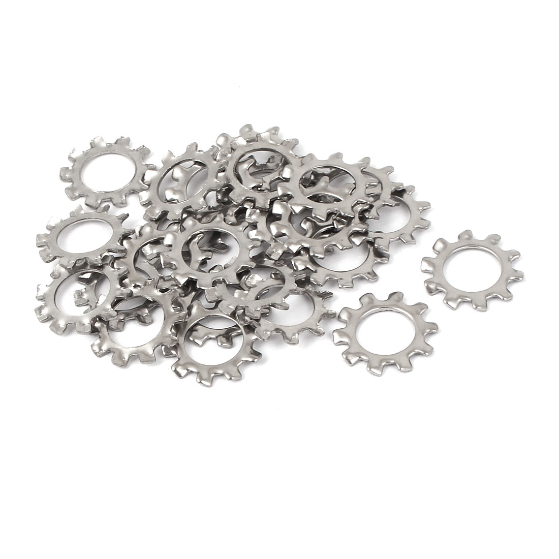 UXCELL High Quality 25 Pcs/lot M8 304 Stainless Steel External Star Lock Washers Anti-slip With Outer Tooth 8 X 14 X 1mm