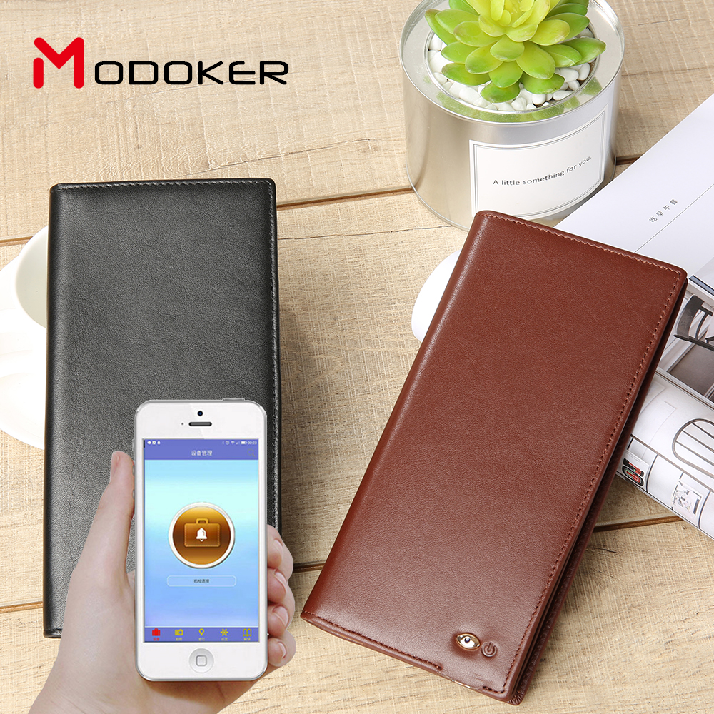 Full Grain Cow Gps Leather Wallet , Smart Wallet For Men,Smart wallet tracker
