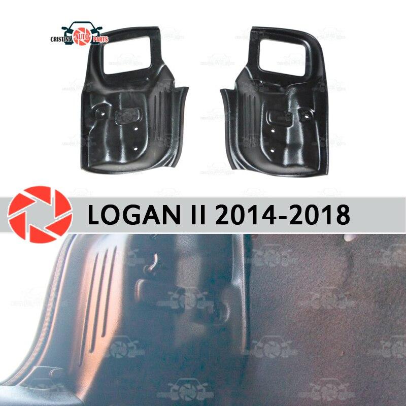 Housses latérales dans le coffre pour Renault Logan 2014-2018 plaque de feu arrière accessoires de coffre intérieur protection décoration de style de voiture