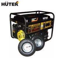 Генератор бензиновый HUTER DY6500LX с колесами и аккумулятором