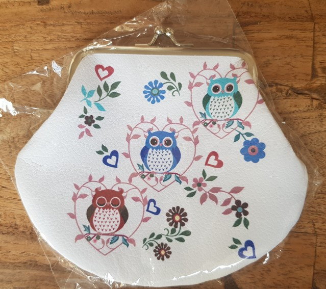 1pcs cute owl pattern leather coin purses zipper zero wallet child girl boy women purse,lady coin bag key packet  drop ship photo review