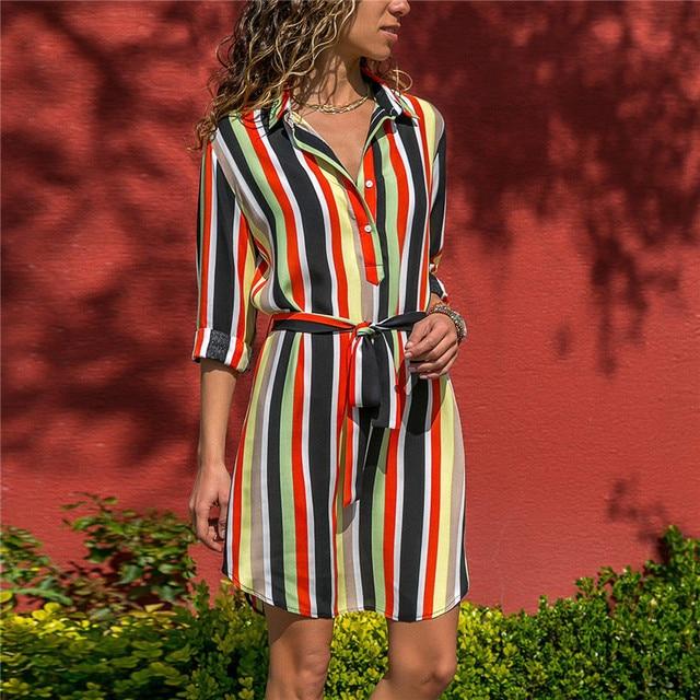 Long Sleeve Chiffon Boho Dress