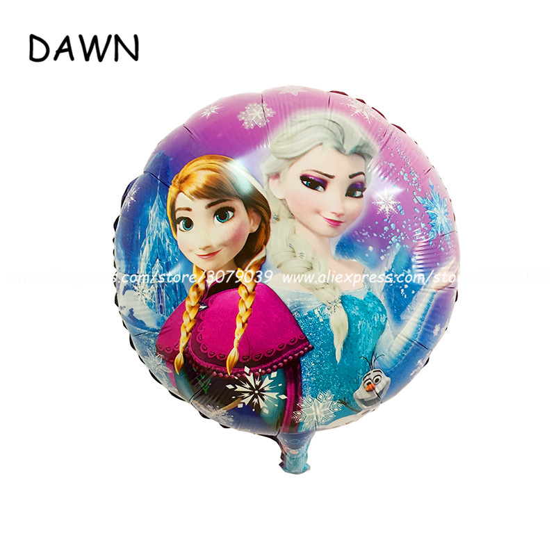 10pcs/lot 18inch Hot Sale Elsa & Anna <font><b>Princess</b></font> balloon <font><b>party</b></font> decoration foil balloon Cartoon Round Foil Balloon for beauty girls image