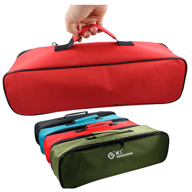 Good Multi-function Large Thick Tool Bag Canvas Electrical Tools Packaging For Electricians Car Emergency Repair Tool Part Pouch Tool Parts