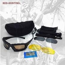 DAISY X7 Kit de Lente óculos de Sol Dos Homens de Combate do exército  Tático Jogo de Guerra Óculos de Caça Ao Ar Livre Eyewear 2a1b269a30