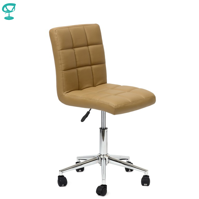 94802 Barneo N-48 Leather Roller Kitchen Chair Swivel Bar Chair Brown Color Free Shipping In Russia