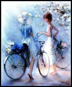 Image 5 - 자수 카운트 크로스 스티치 키트 바느질 공예품 14 ct 중형 diy 아트 수제 장식 흰색 꿈 컬렉션