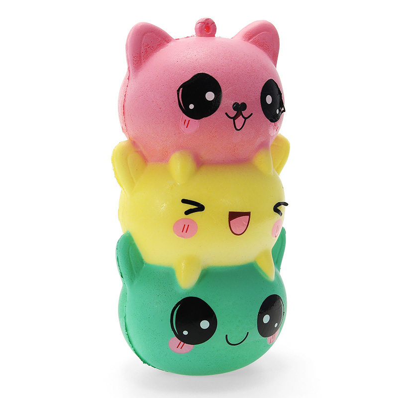 Besegad Jumbo 14cm Face Cute Kawaii Soft Squishyed Toy Slow Rising Relieves Stress Anxiety Home Decoration Props For Kids Adult