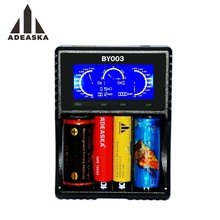 ADEASKA BY003 LCD Smart Batterie Chargeur pour Li-ion/IMR/INR/ICR 18650 14500 26650 AAA 3.7 1.2 V 1.5 V Batteries PK VC4