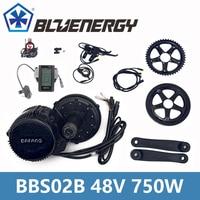 BBS02B 48V 750W 8fun Bafang Mid Drive Motor Kit With Gear Sensor 6V Light Cable Ebike