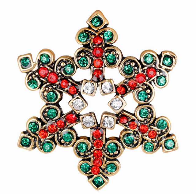 Vintage Christmas Snowflake Brooch For Women Colorful Austrian Rhinestone  Snowflower Shape Brooches And Pins Punk Gifts 4f27366104bd