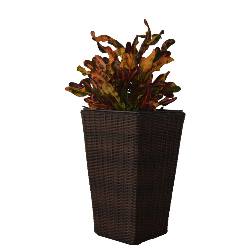 KieferGarden. Flowerpot PARAIBA. Deliver From Spain. Ratán. PARAIBA Planter In Three Different Sizes. Outside Furniture.