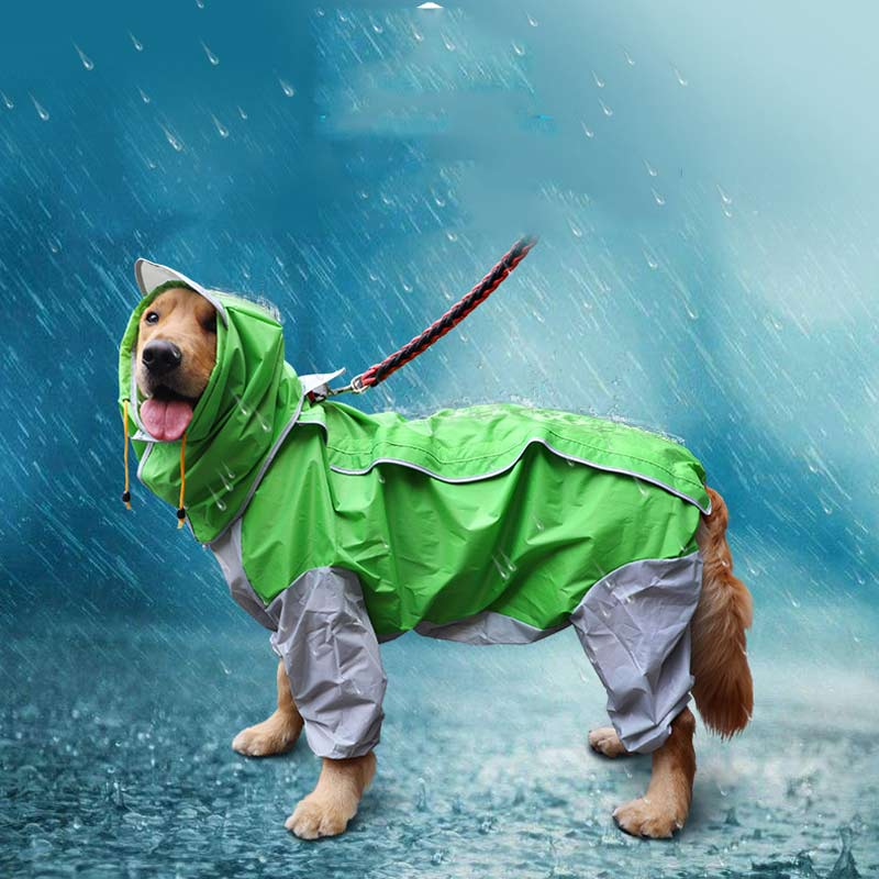 Rain Gear Hooded Camouflage Rain Coat For Dog Labrador Clothing Dogs Husky Clothes Golden Retriever Clothing For Dog Four Foot E ...