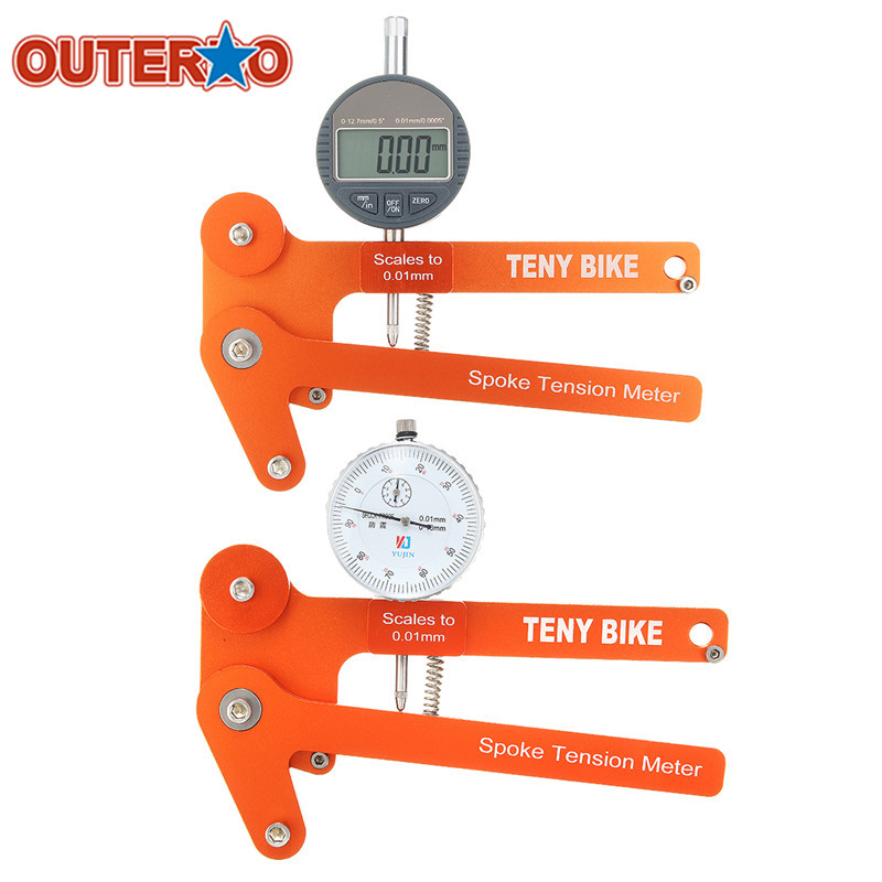 OUTERDO Scales 0.01mm Spoke Tension Meter Tensiometer Bicycle Wheel Builders Tool Digital Scale Bike Indicator Attrezi Tools outerdo 100