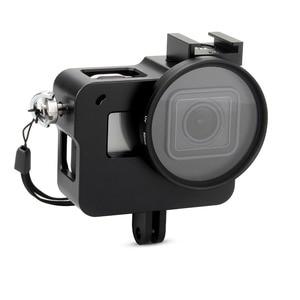 Image 1 - EACHSHOT Alüminyum Alaşım İskelet Kalın Katı ile Koruyucu Kılıf Kabuk için 52mm Uv Filtre Gopro Hero 7 6 5 kamera