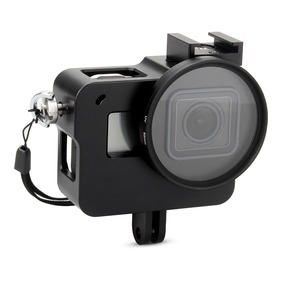 Image 1 - EACHSHOT Aluminium Alloy Skeleton Thick Solid Protective Case Shell with 52mm Uv Filter for Gopro Hero 7 6 5 Camera