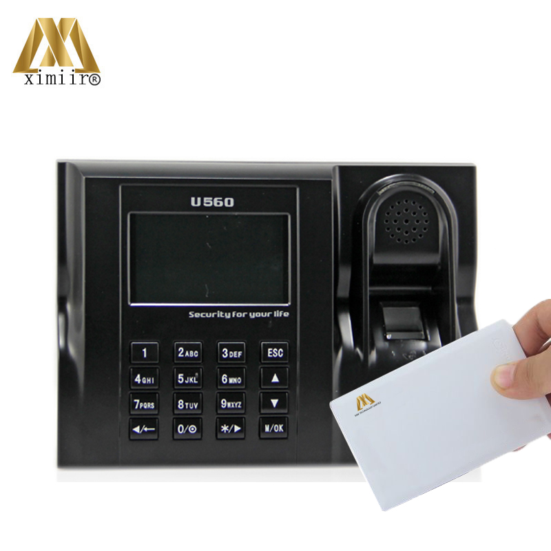 Free Shipping ZK U560 Linux System Biometric Fingerprint Time Attendance And Time Clock With MF IC Card Time Attendance Recorder