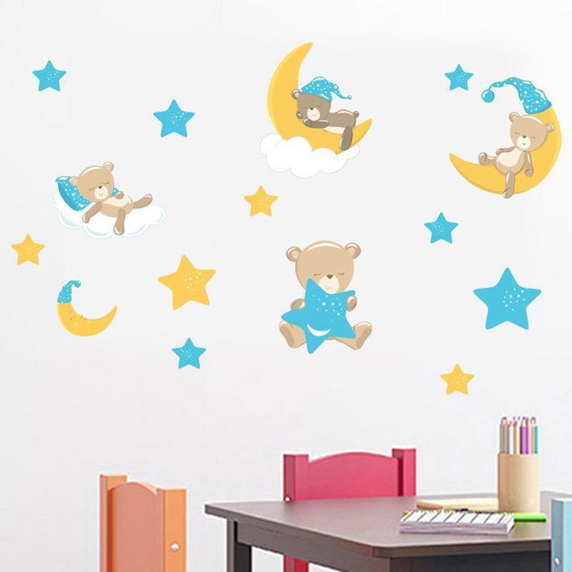 Cartoon Cute Bear Wall Stickers