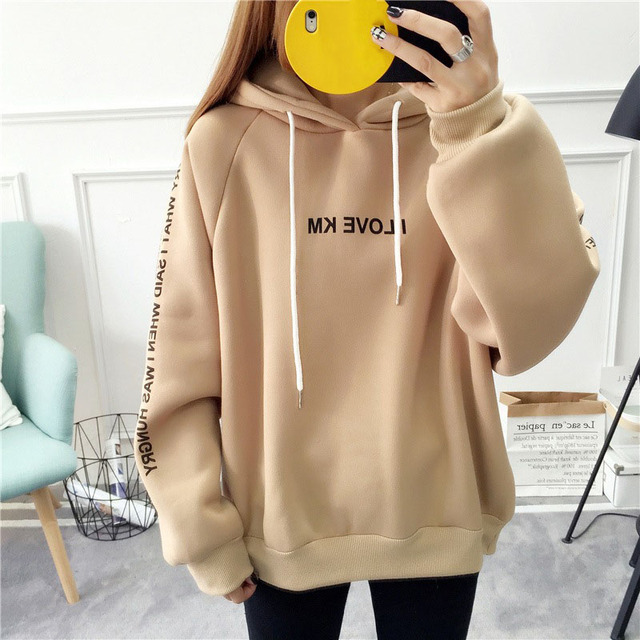 MoneRffi письмо толстовки для женщин с принтом модные пуловеры 2018 креан стиль негабаритных кофты Femme Свободные Повседневное уличная