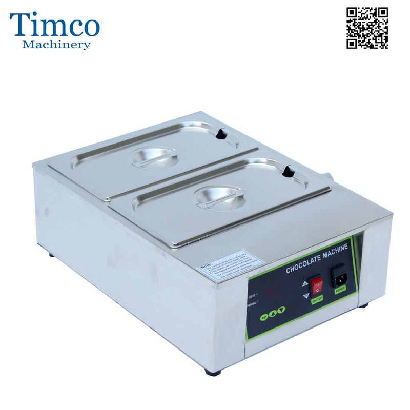Chocolate Melting Machine 2 Tanks Stainless Steel Commercial Cream Butter Melt StoveChocolate Melting Machine 2 Tanks Stainless Steel Commercial Cream Butter Melt Stove