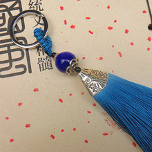 Handmade Cotton Tassel Keychain 10 colors