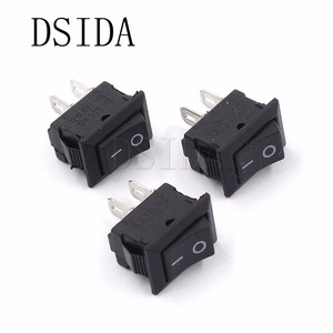 10PCS KCD11 10*15MM 2Pin ON-OFF 3A 250V 10x15 small boat rocker switch power switch Black New