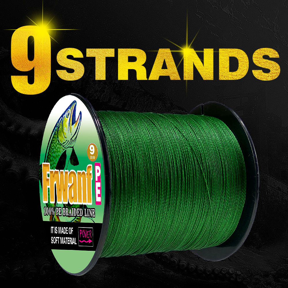 Frwanf X9 PE <font><b>Braided</b></font> <font><b>Fishing</b></font> <font><b>Line</b></font> 300M X4 Multifilament <font><b>Line</b></font> 300M 109 Yards 9 Strand <font><b>Fishing</b></font> Braid <font><b>6LB</b></font>-110LB Sea <font><b>Fishing</b></font> Thread image