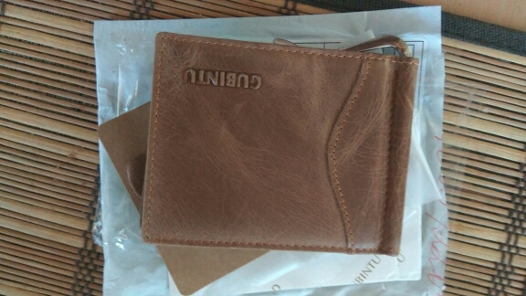 GUBINTU Men's RFID Blocking ID Credit Card Purses Genuine Leather Wallet With Money Clip For Men photo review