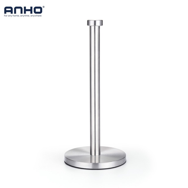 ANHO Stainless Steel Kitchen Roll Paper Towel Holder Bathroom Tissue Toilet Paper Stand Napkins Rack Home Table Accessories