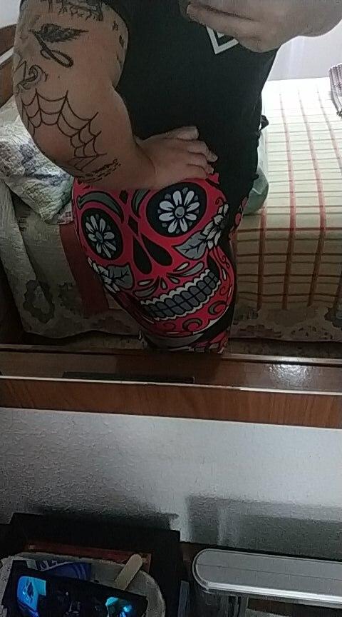Qickitout Leggings Hot Sell Women's Skull&flower Black Leggings Digital Print Pants Trousers Stretch Pants Plus Size
