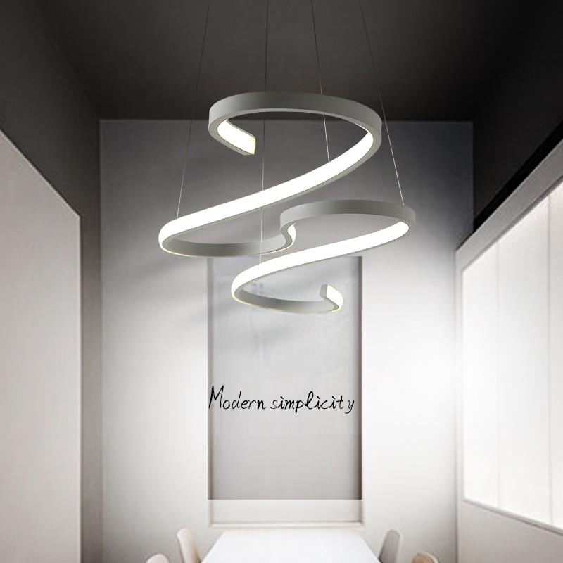 Современные светодиодные подвесные светильники черного/белого цвета для столовой, кухни, бара, акриловые подвесные светильники - 5