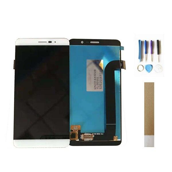 5.0 pouce Noir Blanc Or Couleur Pour Coolpad Porto S E570 LCD Affichage Avec Capteur Tactile En Verre Digitizer Assemblée Avec outils Bande
