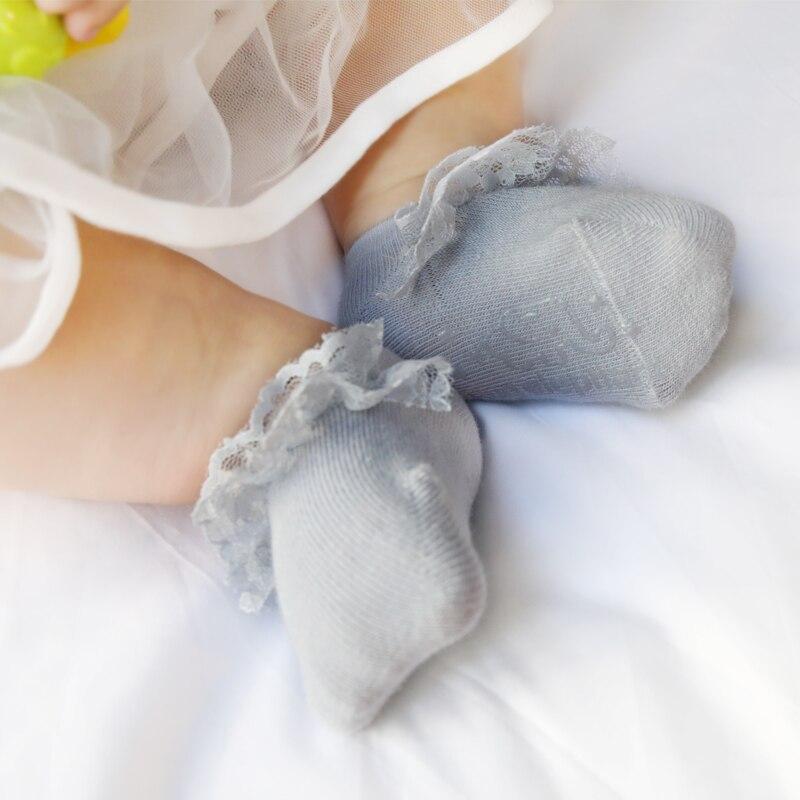 С оборками для девочек Носки для маленьких девочек кружевные носки-тапочки для новорожденных короткие носки детские лето мультфильм 2018new т...
