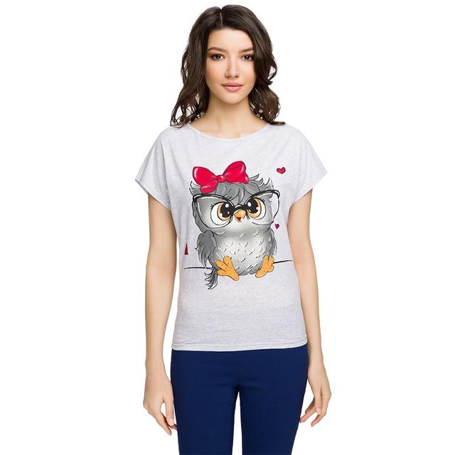 Gloria Jeans Женская футболка с анималистичесим принтом GKT001100