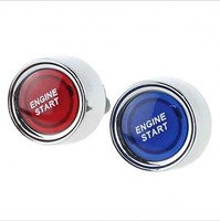 JanDeNing Car SUV Engine Start Push Button 12V 50A blue or Red LED Ignition Starter Power Switch