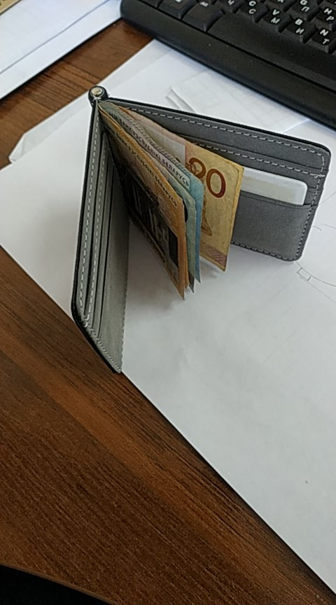 2019 New Men Leather Money Clips Solid Metal ID Credit Card Wallets fPurses Money Holder Clip portafoglio photo review