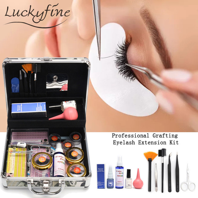 Professional False Extension Eyelash Glue Kit 81012mm Long