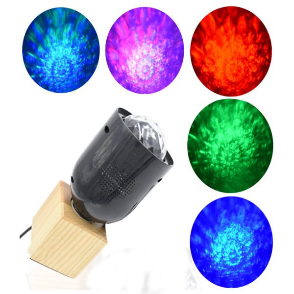 LED Magic Water Wave Stage Light Crystal Ball Remote Control Night Lamp Hanging Club Pub Bar Disco Wedding Party Show Lighting 7colors led night light starry sky remote control ocean wave projector with mini music novelty baby lamp led night lamp for kids