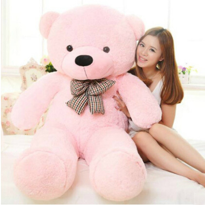 Free Shipping 160cm 5 Colors Big Large Size Teddy Bear Plush Toys Stuffed Toy Life Size Lowest Price Birthday gifts 2018 fancytrader biggest in the world pluch bear toys real jumbo 134 340cm huge giant plush stuffed bear 2 sizes ft90451
