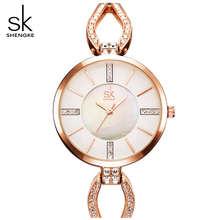 SK Brand Women Bracelet Watches Fashion Luxury Lady Rhinestone Wristwatch Ladies Crystal Dress Quartz Watch Clock Montre Femme