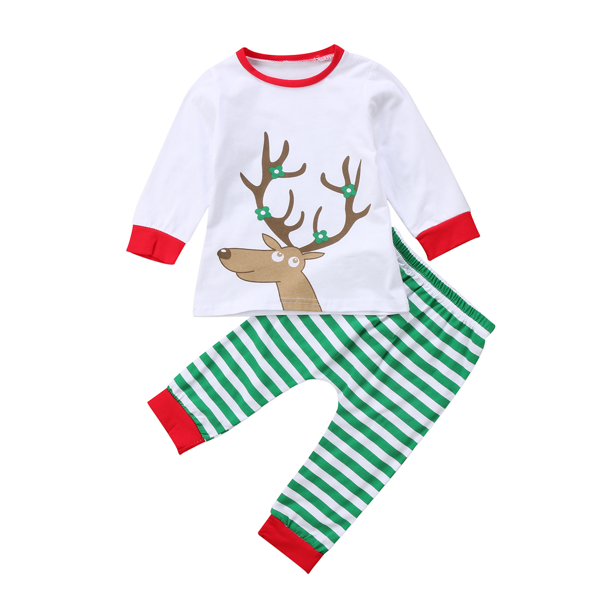 Cute Animal T shirt +Pants Leggings Set Jumpsuit Outfit Newborn Baby Boys Girls Kids Cotton Clothes Playsuit
