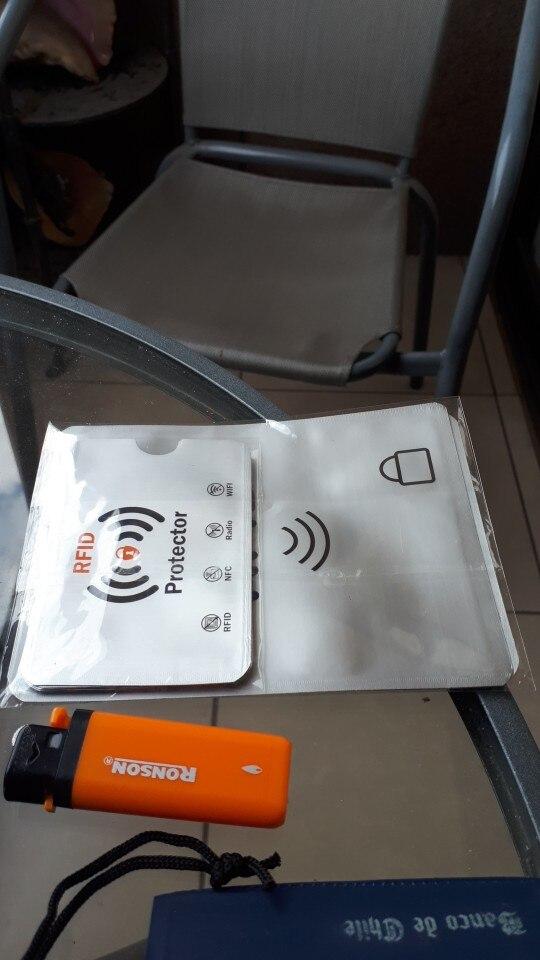12pcs Anti Diefstal RFID Creditcard Protector RFID Blokkeren Mouw Aluminium Paspoort Mouw Stop RFID Diefstal, OEM welkom photo review