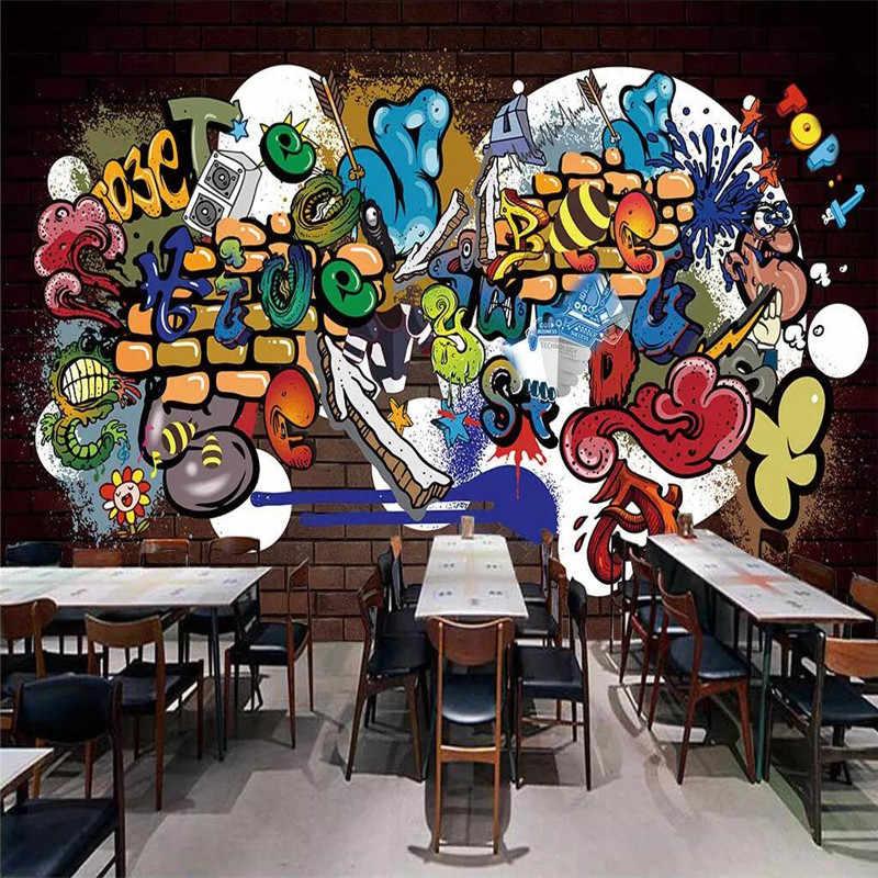 Прохладный Граффити декоративная роспись стены, занимающихся профессиональным производством росписи Фабрика оптовая продажа, обои панно фото стены