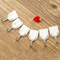 6PCS Strong Adhesive Hook Wall Door Sticky Hanger Holder Kitchen Bathroom White Drop shipping