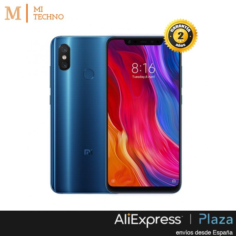 Global Version, Xiaomi MI 8 6 GB + 64 GB, Black and Blue Color, google Play and Castilian installed, Qualcom 845, Camera 20.0MP.